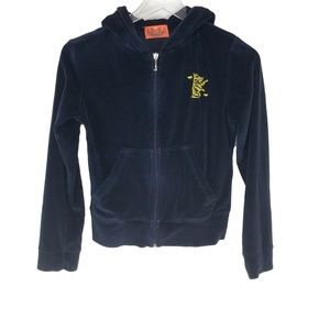 Juicy Couture Navy Blue Cropped Zip Up Jacket